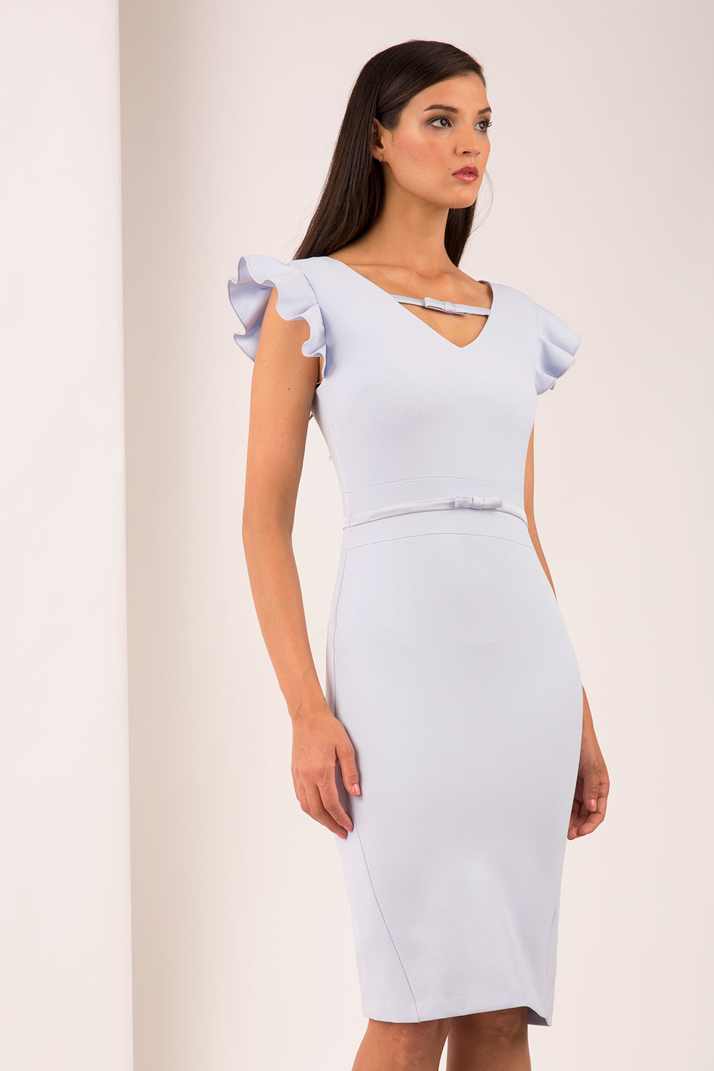 Hybrid Fashion Crawford 1284 Frill Sleeve Pencil Dress