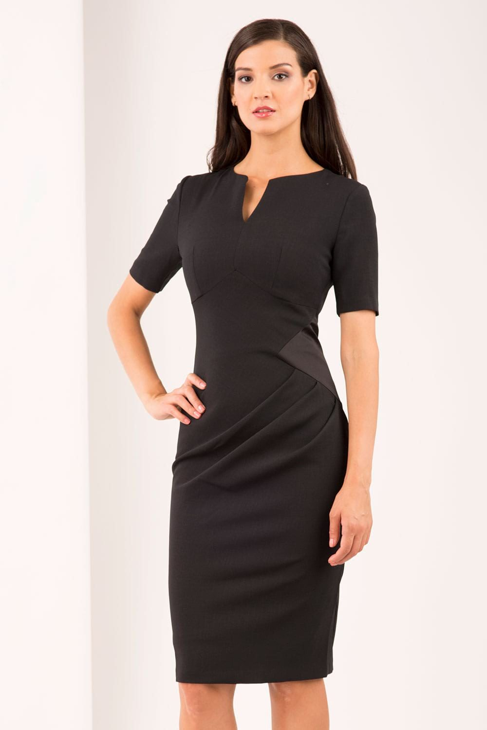 Hybrid Fashion 1293 Halle Ruched Pencil Dress