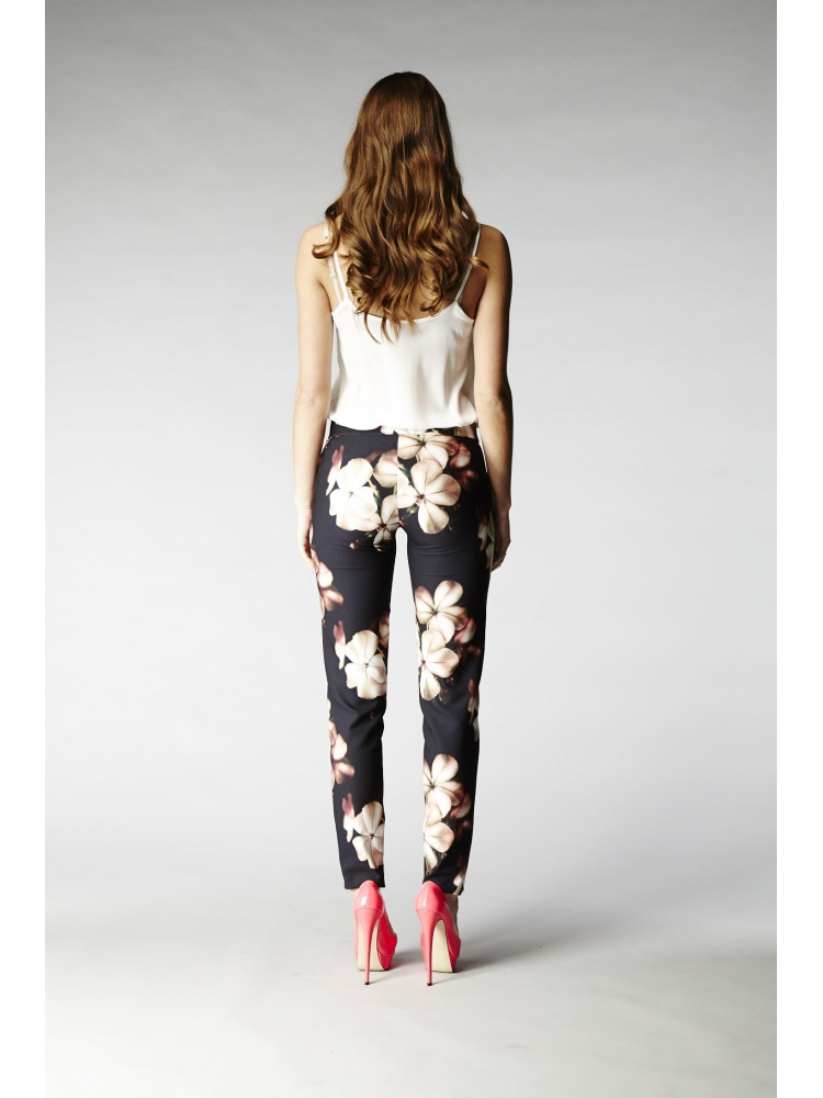 Hybrid 1084P Trixie Printed Cigarette Trousers