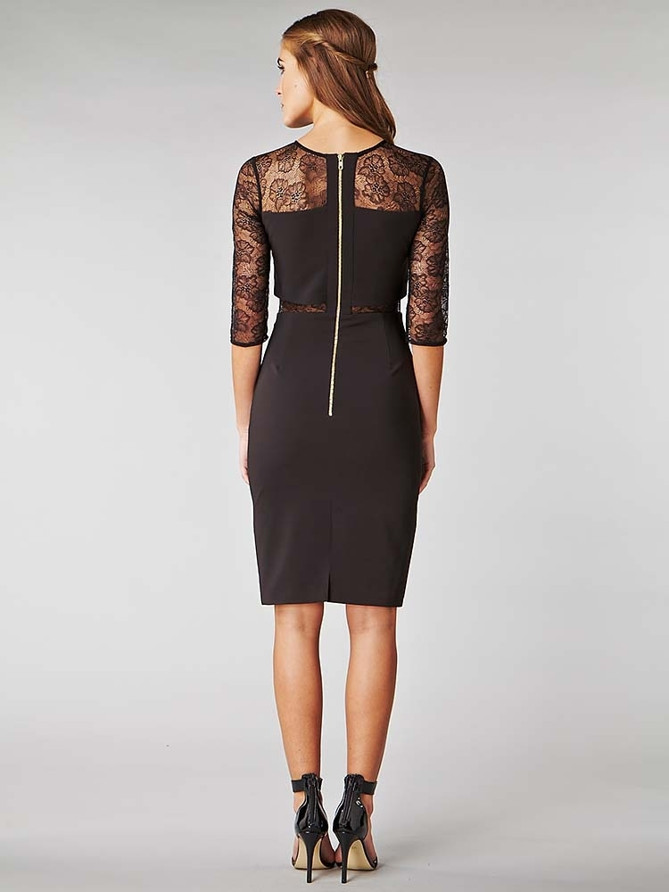 Hybrid Kusum Sheer Panel Pencil Dress