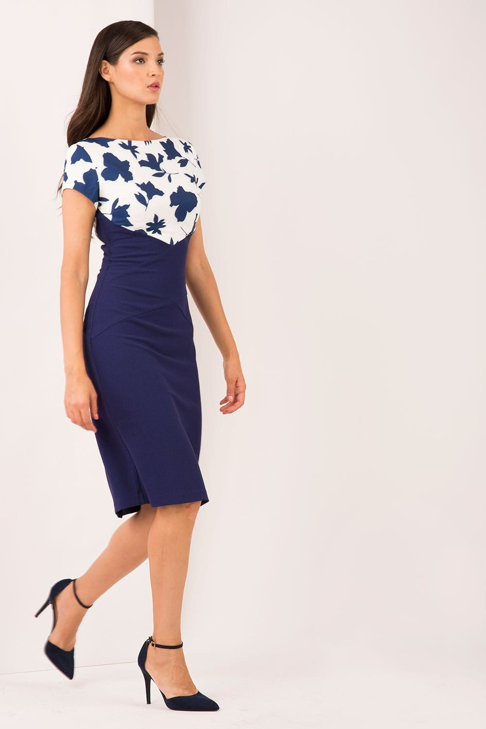 Hybrid Fashion 1320 Roberta Floral Pencil Dress