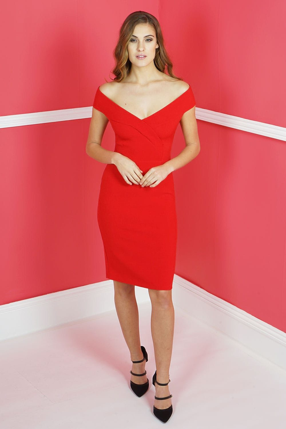 Hybrid Fashion Harlow 1226 Wrap Style Pencil Dress