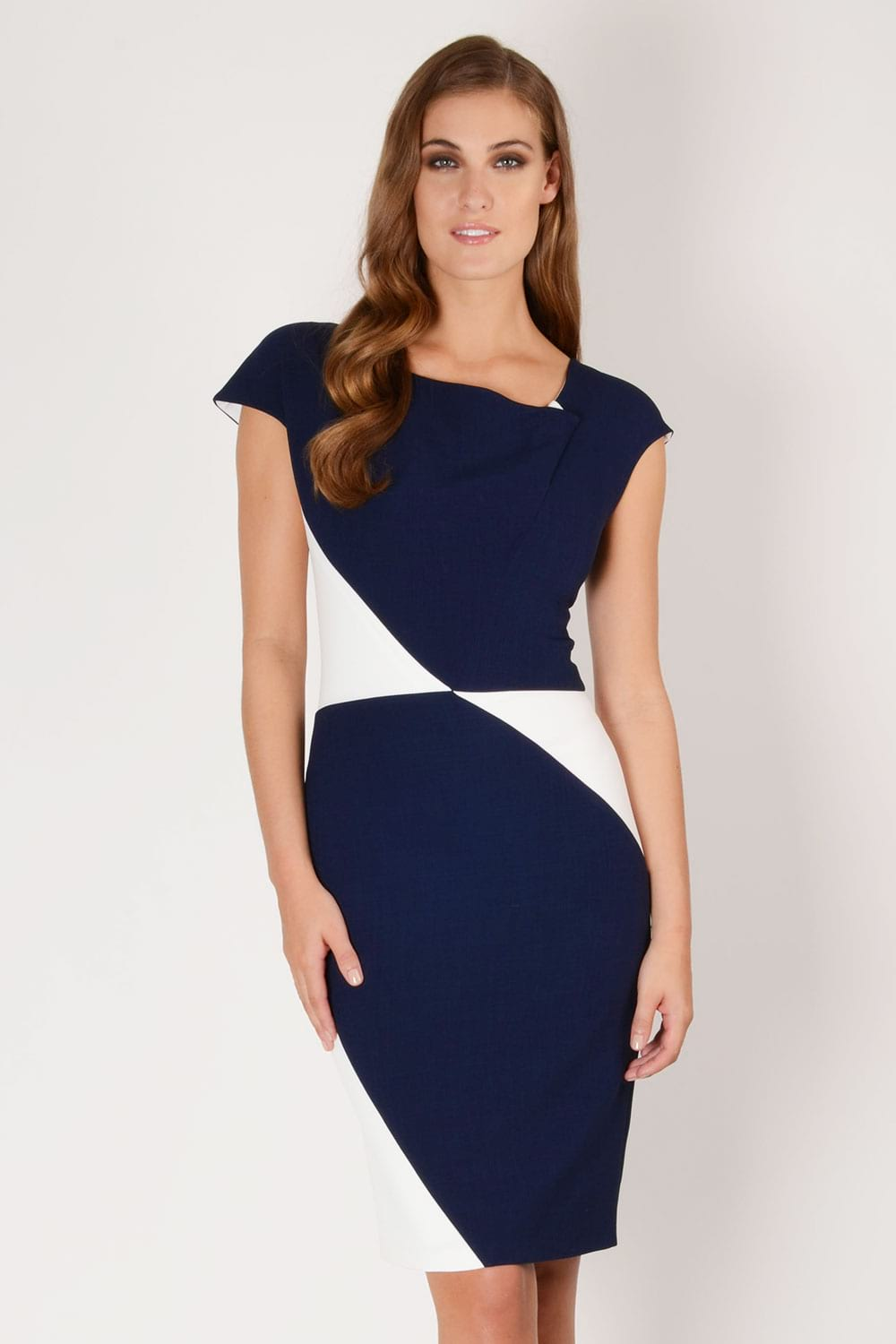 Hybrid Fashion 1256 Windsor Contrast Pencil Dress