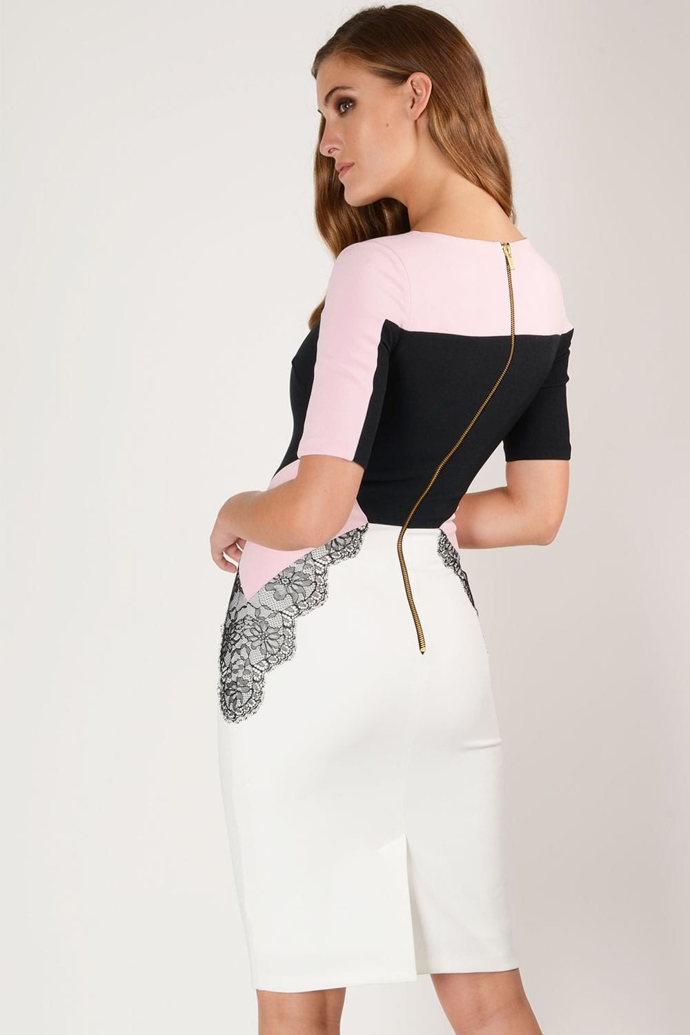 Hybrid Fashion Jamie 1258 Colourblock Pencil Dress
