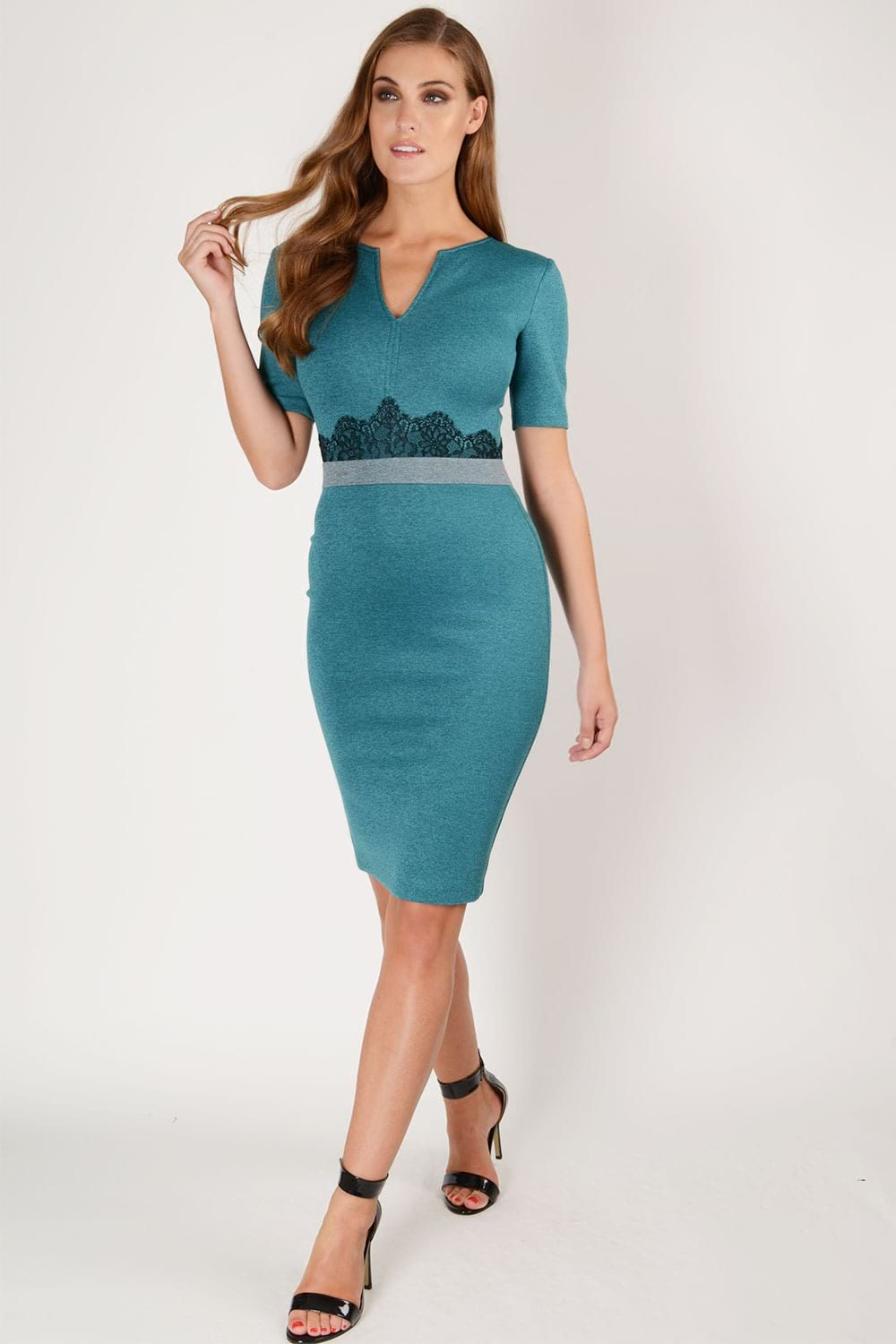 Hybrid Fashion Kate 1274 Neoprene Pencil Dress